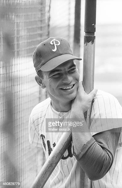 Philadelphia Phillies Johnny Callison during batting practice before game vs San Francisco Giants at Connie Mack Stadium Philadelphia PA CREDIT...