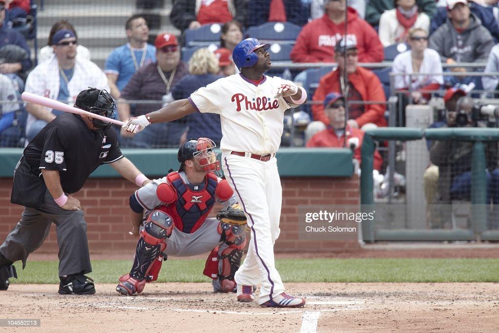 Philadelphia Phillies Ryan Howard (6) in action, at bat vs Atlanta Braves. Philadelphia, PA 5/9/2010