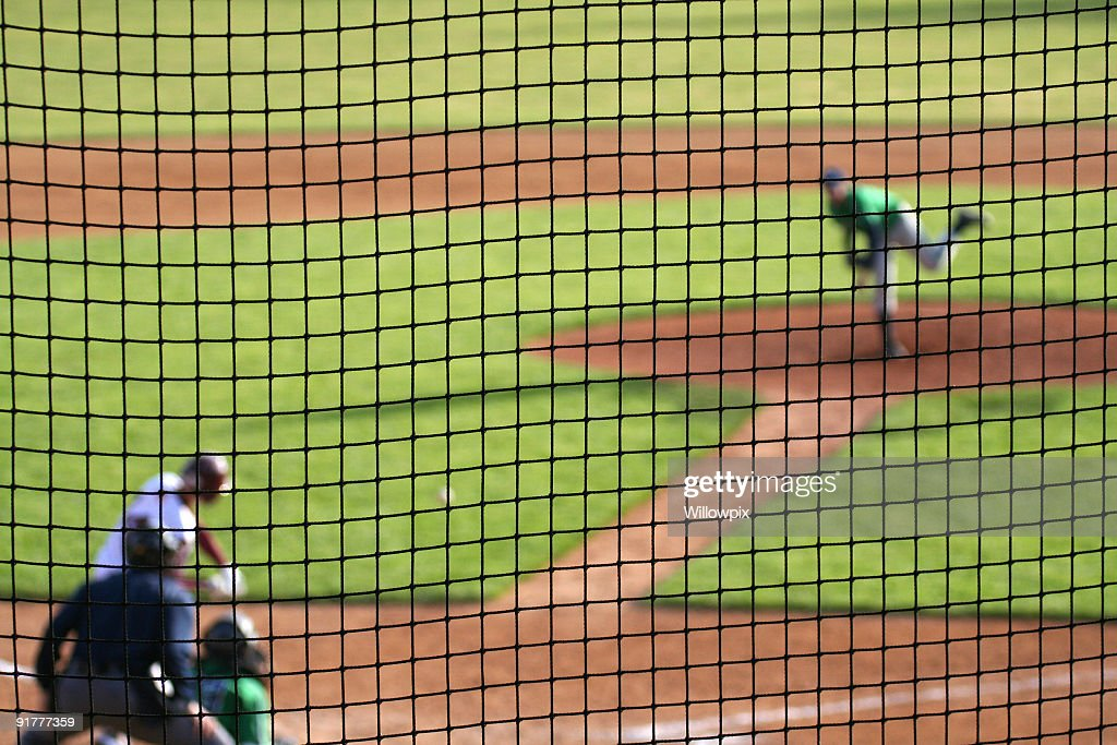 Baseball Pitch in Progress : Stock Photo