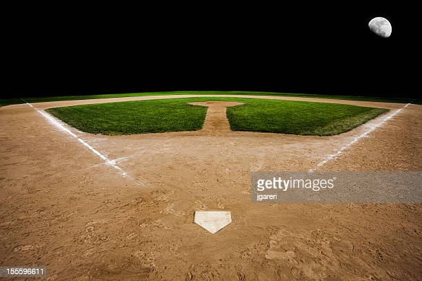 Baseball pitch with the focus on home