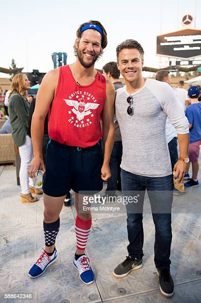 Baseball pitcher Clayton Kershaw and dancer/actor Derek Hough attend Clayton Kershaw's 4th annual 'Ping Pong 4 Purpose Celebrity Tournament' at...