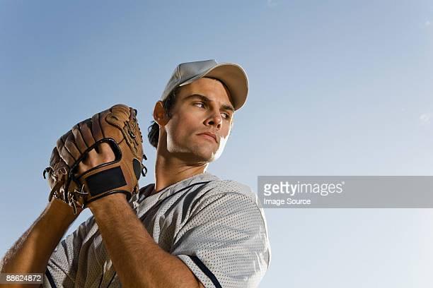 baseball pitcher - キャッチャーミット ストックフォトと画像