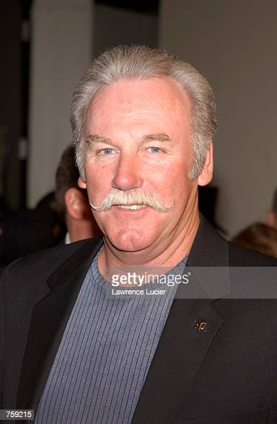 Baseball pitcher Sparky Lyle arrives at the premiere of the film The Rookie March 26, 2002 in New York City.