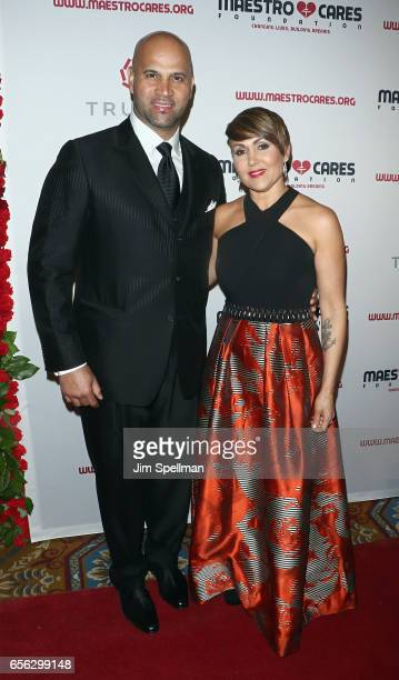 Baseball player Albert Pujols and Deidre Pujols attend the Maestro Cares Foundation's Fourth Annual Changing Lives/Building Dreams Gala at Cipriani...