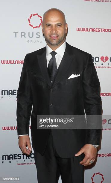 Baseball player Albert Pujols attends the Maestro Cares Foundation's Fourth Annual Changing Lives/Building Dreams Gala at Cipriani Wall Street on...