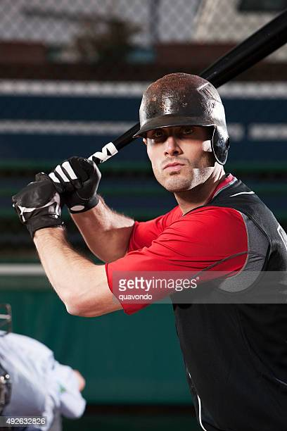 Baseball Player At Bat
