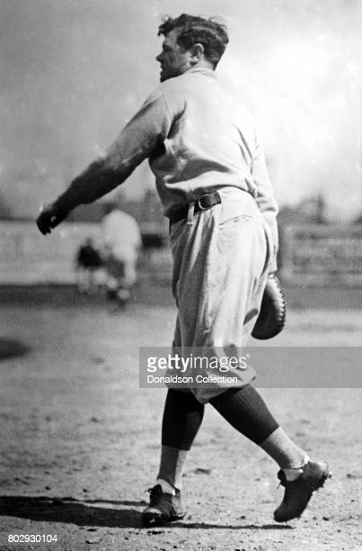 Baseball player Babe Ruth on the field in his New York Yankees uniform in March 23 1922 in New York New York