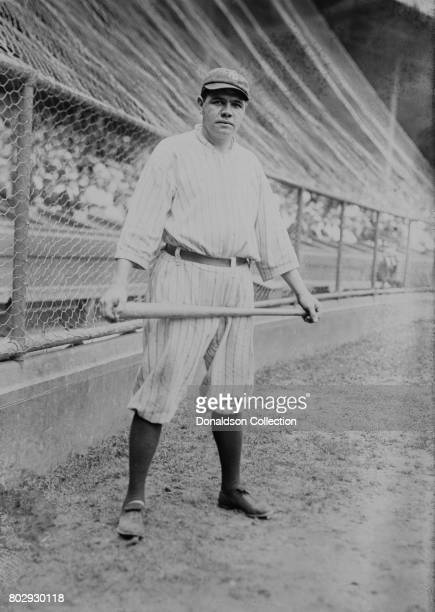 Baseball player Babe Ruth on the field in his New York Yankees uniform in 1921 in New York New York