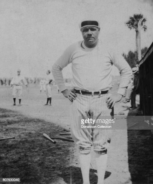 Baseball player Babe Ruth on the field in St Petersburg Florida