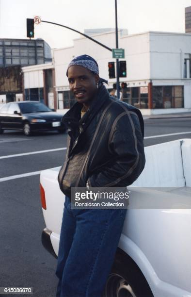 Baseball player Barry Bonds poses for a portrait while filming the TV show Renegade in 1995 in Los Angeles California
