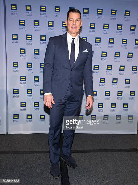 Baseball player Billy Bean attends the 2016 Human Rights Campaign New York gala dinner at The Waldorf=Astoria on February 6 2016 in New York City