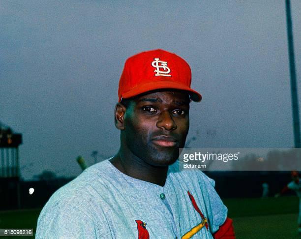 Baseball player Bob Gibson of the St. Louis Cardinals.