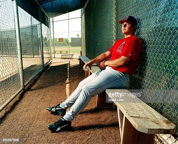 Baseball player Bobby Jenks is photographed for ESPN The Magazine on January 1 2003 in Phoenix Arizona