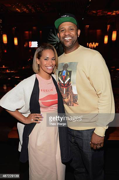 Baseball player CC Sabathia and Amber Sabathia attend Roc Nation Sports 1 Year Anniversary Luncheon at TAO Downtown on April 28 2014 in New York City