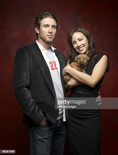 Baseball player Chase Utley and his wife Jenn Utley are photographed for Philadelphia Magazine