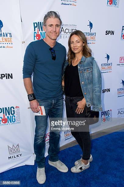 Baseball player Chase Utley and Jennifer Cooper attend Clayton Kershaw's 4th annual 'Ping Pong 4 Purpose Celebrity Tournament' at Dodger Stadium on...