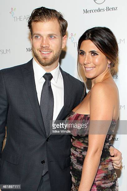 Baseball player Cutter Dykstra and actress JamieLynn Sigler attend The Art of Elysium's 7th Annual HEAVEN Gala presented by MercedesBenz at Skirball...