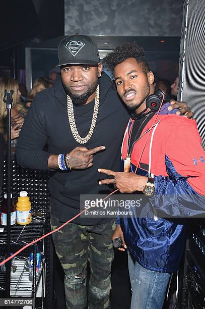 Baseball player David Ortiz and DJ Ruckus are seen celebrating Mohegan Sun's 20th Anniversary at the Kevin Hart Official After Party featuring DJ...
