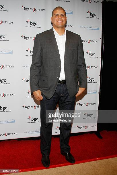 Baseball player Dellin Betances attends Annual Charity Day Hosted By Cantor Fitzgerald And BGC at BGC Partners INC on September 11 2014 in New York...