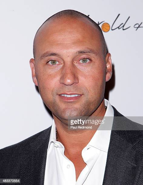 MLB baseball player Derek Jeter attends the 15th Annual Harold And Carole Pump Foundation Gala at the Hyatt Regency Century Plaza on August 7 2015 in...