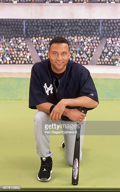 Baseball player Derek Jeter is photographed for Wizard Magazine in 1999 in New York City CREDIT MUST READ Ken Regan/Camera 5 via Contour by Getty...