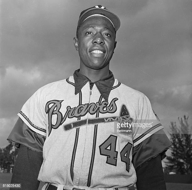 Baseball Player Hank Aaron in Uniform