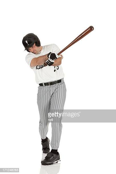 baseball player in action - batting sports activity stock pictures, royalty-free photos & images