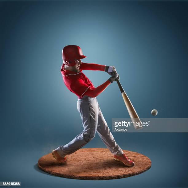 Jugador de béisbol en acción