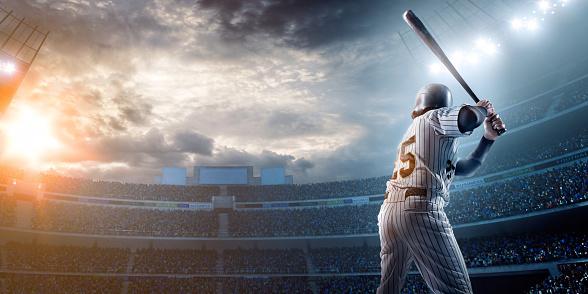 Baseball player in stadium 473559846
