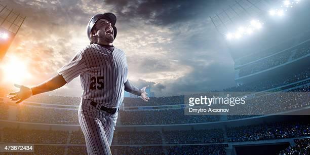 Baseball-Spieler im Stadion