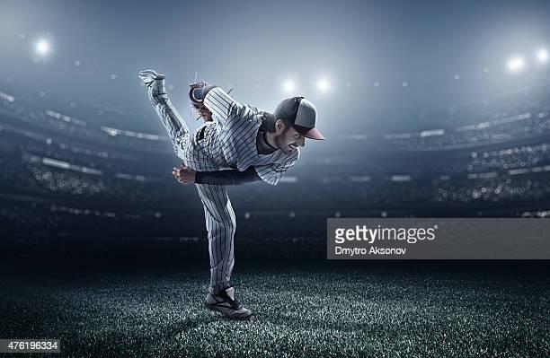 Baseball player in stadium