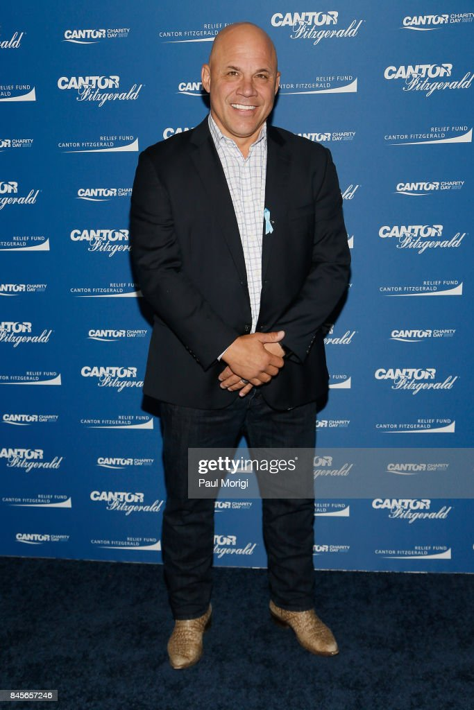 Baseball player Jim Leyritz attends Annual Charity Day hosted by Cantor Fitzgerald, BGC and GFI at Cantor Fitzgerald on September 11, 2017 in New York City.