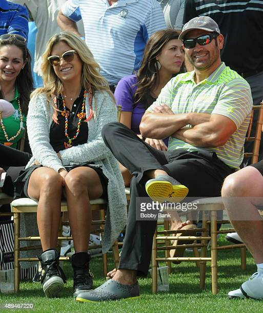 Baseball player Johnny Damon and his wife Michelle Mangan attends the 9th Annual ETF Golf Invitational at Trump National Golf Club Westchester on...