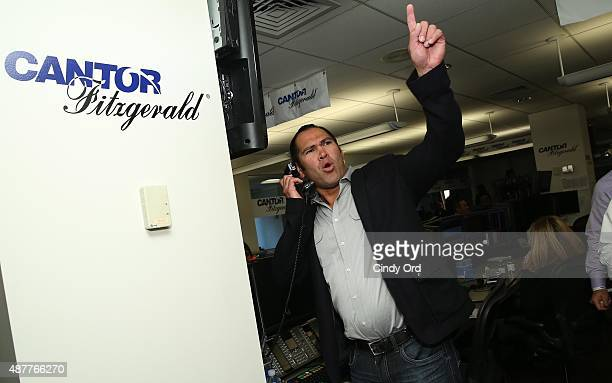 Baseball player Johnny Damon attends the annual Charity Day hosted by Cantor Fitzgerald and BGC at Cantor Fitzgerald on September 11 2015 in New York...