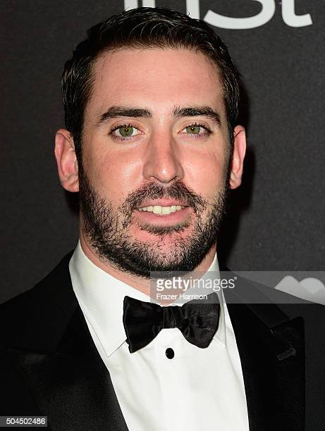 Baseball player Matt Harvey attends InStyle and Warner Bros 73rd Annual Golden Globe Awards PostParty at The Beverly Hilton Hotel on January 10 2016...