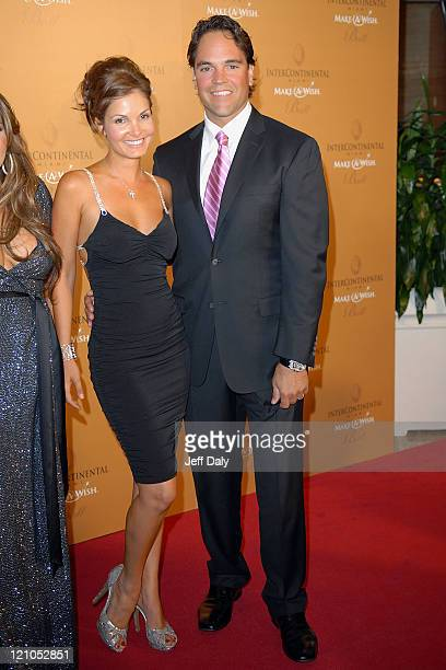 Baseball player Mike Piazza and Wife Alicia Rickter attend the 13th Annual InterContinental MakeAWish Ball at the Hotel InterContinental on November...