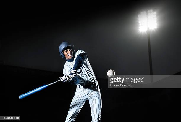 baseball player - batting stock-fotos und bilder