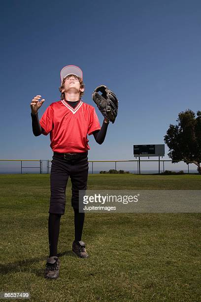 baseball player - outfield stock pictures, royalty-free photos & images