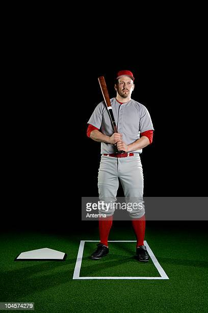 A baseball player, portrait, studio shot