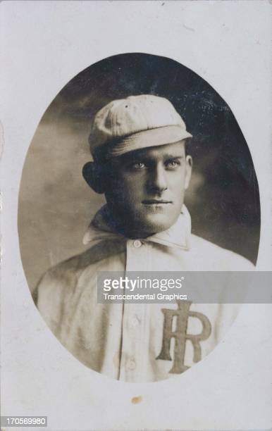 A baseball player poses in his Little Rock uniform in 1908 in Little Rock Arkansas