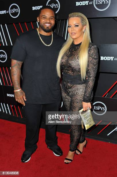 Baseball player Prince Fielder and wife Chanel Fielder attend BODY At The ESPYS PreParty at Avalon Hollywood on July 11 2017 in Los Angeles California
