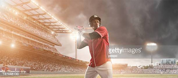 Baseball Player Ready To Hit