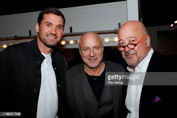MLB baseball player Ryan Zimmerman and celebrity chefs Tom Colicchio and Andrew Zimmern attend DC Central Kitchen's Capital Food Fight 2019 on...