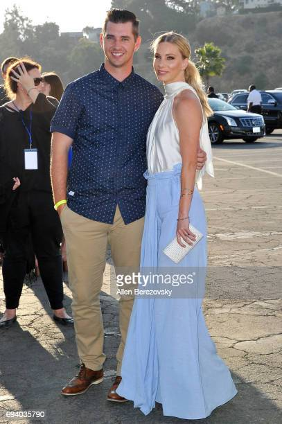 Baseball player Taylor Hubbell and actress Heather Morris attend Los Angeles Dodgers Foundation's 3rd Annual Blue Diamond Gala at Dodger Stadium on...