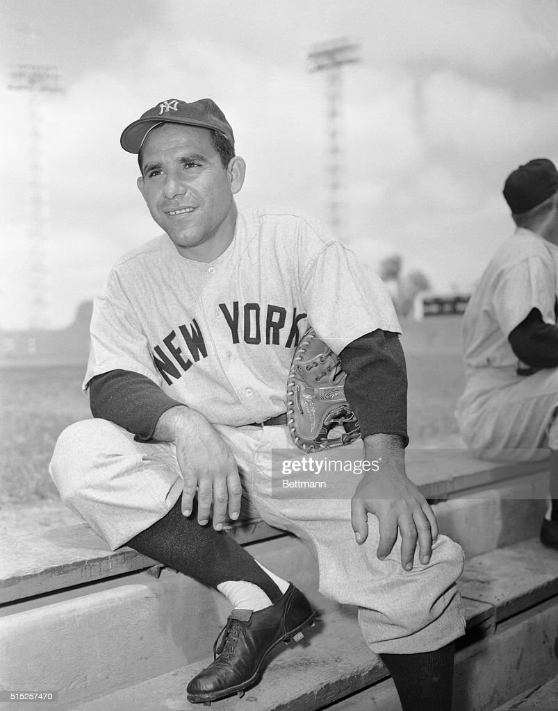 Baseball Player Yogi Berra : News Photo