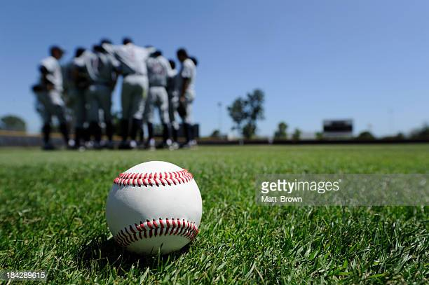 baseball players in the field - outfield stock pictures, royalty-free photos & images