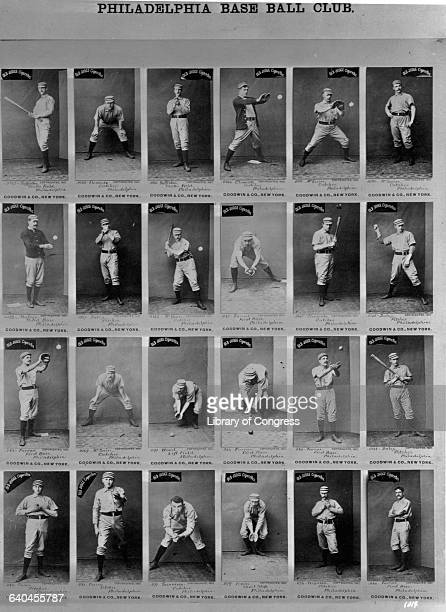 Baseball Players on Old Judge Cigarette Cards