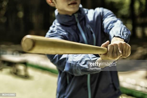 baseball players practicing baseball batting - バッティング ストックフォトと画像