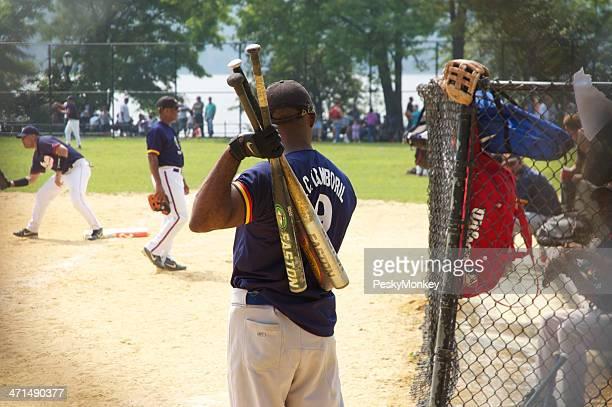 Baseball Players Warm Up at Inwood Hill Park New York