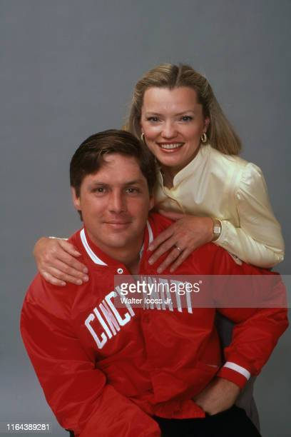 Portrait of Cincinnati Reds Tom Seaver with wife Nancy during photo shoot at Shea Stadium Flushing NY CREDIT Walter Iooss Jr